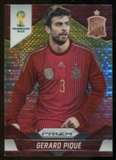 2014 Panini Prizm World Cup Prizms Yellow and Red Pulsar #171 Gerard Pique