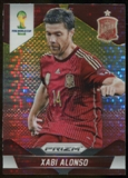2014 Panini Prizm World Cup Prizms Yellow and Red Pulsar #173 Xabi Alonso