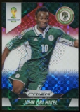 2014 Panini Prizm World Cup Prizms Red White and Blue #152 John Obi Mikel