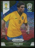 2014 Panini Prizm World Cup Prizms Blue and Red Wave #110 Paulinho