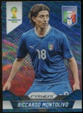 2014 Panini Prizm World Cup Prizms Blue and Red Wave #129 Riccardo Montolivo
