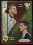 2014 Panini Prizm World Cup World Cup Matchups Prizms Yellow and Red Pulsar #18 Igor Akinfeev/Thibaut Courtois