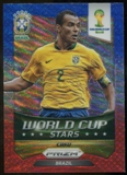 2014 Panini Prizm World Cup World Cup Stars Prizms Blue and Red Wave #47 Cafu
