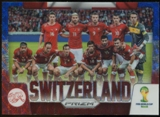 2014 Panini Prizm World Cup Team Photos Prizms Blue and Red Wave #30 Switzerland