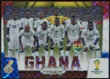 2014 Panini Prizm World Cup Team Photos Prizms Red White and Blue #16 Ghana