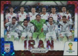 2014 Panini Prizm World Cup Team Photos Prizms Red White and Blue #21 Iran