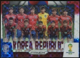 2014 Panini Prizm World Cup Team Photos Prizms Red White and Blue #24 Korea Republic