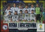 2014 Panini Prizm World Cup Team Photos Prizms Yellow and Red Pulsar #5 Bosnia-Herzegovina