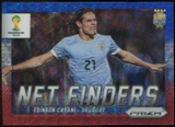 2014 Panini Prizm World Cup Net Finders Prizms Blue and Red Wave #23 Edinson Cavani