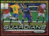 2014 Panini Prizm World Cup Guardians Prizms Yellow and Red Pulsar #7 Claudio Bravo