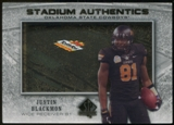 2012 Upper Deck SP Authentic Stadium Authentics Bowl Logo #SABJB Justin Blackmon