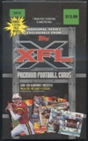 2001 Topps XFL Football Blaster Box