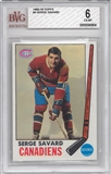 1969/70 Topps Hockey #4 Serge Savard BVG 6 (EX-MT) *0956