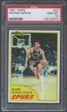 1981/82 Topps Basketball #37 George Gervin PSA 10 (GEM MT) *3372