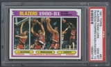 1981/82 Topps Basketball #61 Jim Paxson Mychal Thompson Kermit Washington Kelvin Ransey PSA 10 (GEM MT) *4716