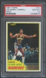1981/82 Topps Basketball #W71 Joe Barry Carroll Rookie PSA 10 (GEM MT) *8818