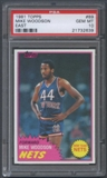 1981/82 Topps Basketball #E89 Mike Woodson Rookie PSA 10 (GEM MT) *2639