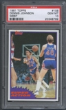 1981/82 Topps Basketball #W108 Dennis Johnson Super Action PSA 10 (GEM MT) *8769
