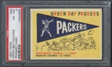 1959 Topps Football #98 Green Bay Packers Pennant PSA 8 (NM-MT) *3689