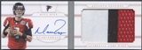 2013 Panini National Treasures #19 Matt Ryan Jumbo Prime Booklet Signatures Patch Auto #08/10
