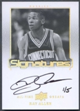 2013 Upper Deck All-Time Greats #ATGRA5 Ray Allen Signatures Silver Auto #1/5