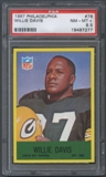 1967 Philadelphia Football #76 Willie Davis PSA 8.5 (NM-MT+) *7277