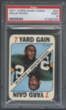 1971 Topps Game Cards Football #22 Willie Wood PSA 9 (MINT) *3104