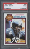 1979 Topps Football #84 Larry Brown PSA 9 (MINT) *6284