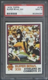 1979 Topps Football #168 Super Bowl XIII (Franco Harris) PSA 9 (MINT) *4096