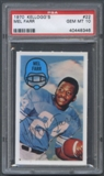 1970 Kellogg's Football #22 Mel Farr PSA 10 (GEM MT) *8346