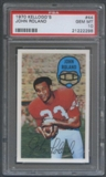 1970 Kellogg's Football #44 John Roland PSA 10 (GEM MT) *2298