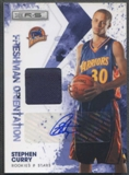 2009/10 Rookies and Stars #6 Stephen Curry Freshman Orientation Rookie Jersey Auto #04/25