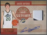 2010/11 Timeless Treasures #9 Gordon Hayward NBA Apprentice Materials Rookie Patch Auto #01/10