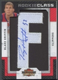 "2009/10 Panini Threads #101 Blake Griffin Rookie Letter ""F"" Patch Auto #053/640"