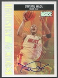2005/06 Topps Luxury Box #DW1 Dwyane Wade Industry Anchors Auto #08/10
