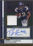 2009 Finest #73 Percy Harvin Rookie Patch Auto #166/209