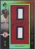 "2007 SP Authentic #26 David Ortiz By The Letter ""B"" Patch Auto #04/10"