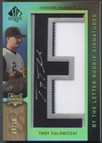 "2007 SP Authentic #129 Troy Tulowitzki By The Letter ""E"" Rookie Patch Auto #09/10"