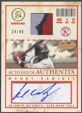 2005 Fleer Authentix #MR Manny Ramirez Patch Auto #24/40
