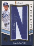 "2009 SP Authentic #EL Evan Longoria By The Letter ""N"" Patch Auto #1/5"