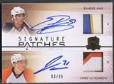 2009/10 The Cup #SP2KV Evander Kane & James van Riemsdyk Dual Patch Auto #03/35