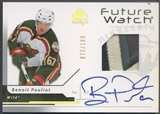 2006/07 SP Authentic #194 Benoit Pouliot Limited Rookie Patch Auto #072/100