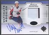 2007/08 Ultimate Collection #160 Nicklas Backstrom Rookie Patch Auto #03/25