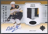 2007/08 Ultimate Collection #142 David Krejci Rookie Patch Auto #12/25