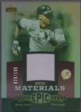 2006 Upper Deck Epic #DJ3 Derek Jeter Materials Dark Purple Jersey #079/185