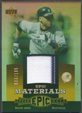 2006 Upper Deck Epic #DJ3 Derek Jeter Materials Orange Jersey #033/185