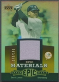2006 Upper Deck Epic #DJ2 Derek Jeter Materials Dark Orange Jersey #172/185
