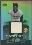 2006 Upper Deck Epic #JM Juan Marichal Materials Grey Jersey #27/40