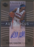 2004/05 Upper Deck Trilogy #RH Richard Hamilton Auto Focus Crystal Auto #20/25