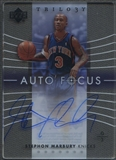 2004/05 Upper Deck Trilogy #SM Stephon Marbury Auto Focus Auto